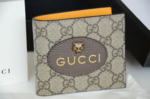 Authentic Gucci Neo Tiger Vintage GG Supreme Wallet Bifold Purse