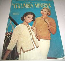 VINTAGE CROCHET PATTERN LEAFLET BOOK COLUMBIA-MINERVA MOHAIR FASHIONS #748