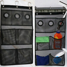 Polyester Black Dorm Rooms Bathroom Accessories Mesh Bag Shower Organizer Black