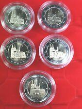 2 Euro Kölner Dom 2011 A, D, F, G, J alle 5 Prägestätten bankf. UNC in Kapsel