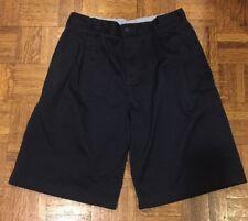 Boys Lands End School Uniform Shorts Navy Blue Size 20 Good Condition