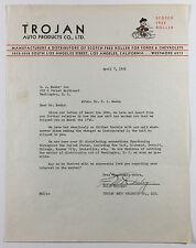 VTG Letterhead, Trojan Auto Products Co., Scoth Free Roller, Los Angeles CA 1931