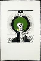 """Pop Art """"X-13"""" 1971 Radierung mit Prägedruck Jürgen HEESE (*1934 D) handsigniert"""