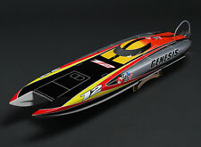OPEN BOX ITEM GENESIS RC BRUSHLESS BOAT CATAMARAN ARTR W/MOTOR  SPARTAN