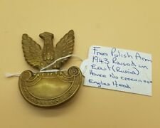 Genuine WW2 Free Polish Army Badge No Crown Raised In East Russia 1943
