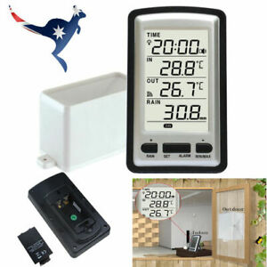 PROFESSIONAL WIRELESS WEATHER STATION WITH RAIN GUAGE LCD SCREEN