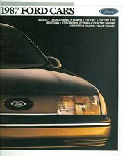 1987 Ford Cars Sales Brochure All Models
