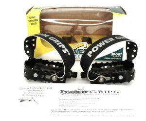 """Power Grips Sport Pedals and Straps Kit 9/16"""" Black"""