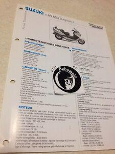 Suzuki AN650 Burgman K3 2003 Año 650 Ficha Técnica Moto a Distancia Forestay