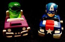 2012 Polyfect Toys Marvel Comics Hulk & Captain America Preschool Kids Racers