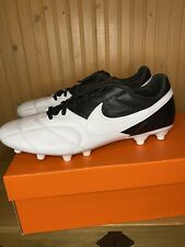 Nike Premier II FG Men's Soccer Cleats- White black 917803-110 kangaroo leather