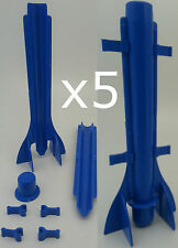 5  x Long tapered plastic candle mould. Easy candle extraction.