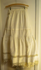 Skirt Crochet Vintage Lace Handmade boho hippy wedding country off white AS IS