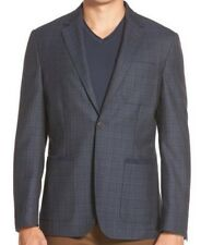 Vince Camuto Air  Slim Fit Plaid Blazer Size X-Large Blue MSRP $295