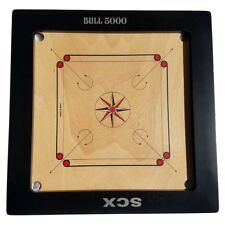 CARROM BOARD GAME BULL 5000 FULL SIZE W/ FREE WOOD COINS+STRICKER HAPPY NEW YEAR