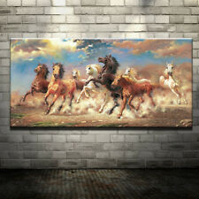 8 Running Horse Animal Modern Printed Oil Painting On Canvas Wall Painting Decor