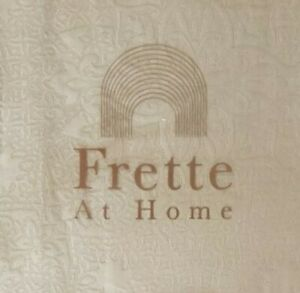 FRETTE AT HOME ARABESQUE 1 KING SHAM STONE JACQUARD BNIP BEAUTIFUL