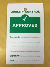 Quality Control QC Approved Plastic Tags - Pack of 10