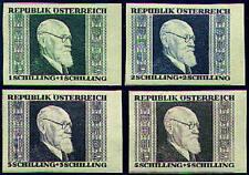 Österreich Nr. 772-775 A+B postfrisch ** Renner-Einzelwerte
