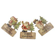 De Madera Árbol De Navidad Decoración Regalo De Navidad Papá Noel Nuevo