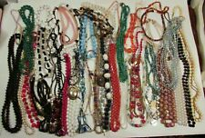 Lot Of 51 Costume Necklaces Beaded And Other Lot #2