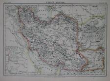 Original 1885 Map PERSIA Tabriz Tehran Shiraz Susa Mashhad Caspian Sea Iran