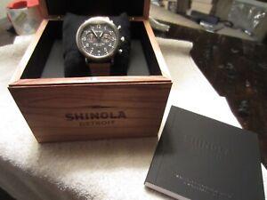 Shinola 41mm The Runwell Chronograph Stainless Steel Quartz Watch-NIB!