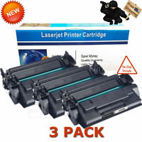 3PK CF258X 58X Toner (No Chip) for HP LaserJet Pro M404 M404dn MFP M428 M428fdw