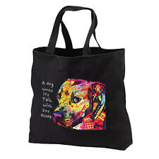 Dog Wags Tails With Heart Pit Bull Neon New Tote Bag Gifts Events Books