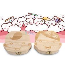 Boîte à dent de lait Garçon / Fille Coffret en bois pour bébé Milk teeth box