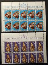 Timbre EUROPA LICHTENSTEIN Stamp - Yvert et Tellier n°585 et 586 x10 n** (Y3)