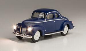 Woodland Scenics ~ New 2021 ~ HO Scale ~ Just Plug ~ Blue Car Coupe ~ JP5598