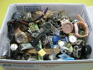 Nice 9 Pound Lot of Untested Watches for Parts, Repair, Resale or Wear - A8