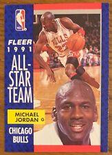 MICHAEL JORDAN, 1991-1992 FLEER ALL STAR CARD, NBA LEGEND ! AWESOME !