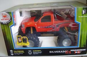 NEW New BRIGHT Silverado Red 1:14 R/C Radio Control Vehicle 9.6V Battery TRUCK
