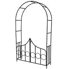 Arco de Metal para Enredaderas Arco de Jardín Plantas Rosas con Puertas Verde