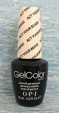 OPI GELCOLOR GC T66 ACT YOUR BEIGE Soft Shades pink nude gel polish NEW, AUTH