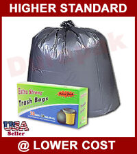 112~ 26 Gallon Black Garbage Trash Can Liner Bags Household Waste Clean Up Bag