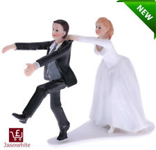 Wedding Cake Topper Funny Bride and Groom Novelty Figurine Mr & Mrs Decoration