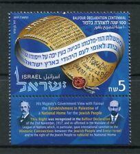 Israel 2017 MNH Balfour Declaration Centennial Home Jewish People 1v Set Stamps