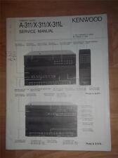 Kenwood Service Manual~A-311-X-311/311L Compact Audio System~Original~Repair
