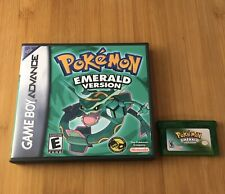 Pokémon: Emerald Version w/ New Custom Case - Nintendo Game Boy GBA - US Seller