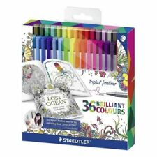 Staedtler 334 Triplus Fineliner Superfine Point Pens Johanna Basford Edition X36
