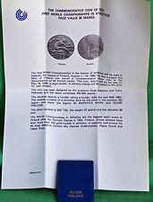 1983 Finland 50 Markkaa Silver Helsinki World Championship Comm Coin UNC