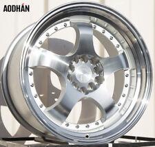 17X9 +25 Aodhan Ah03 5X100 Silver Wheel Fit Corrado Cabriolet Scion Tc FR-S GT86