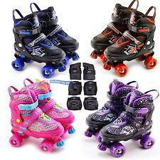 Childrens Childs 4 Wheel Kids Boys Girls Adjustable Quad Roller Skates Boots