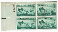 936 U.S. Coast Guard 3 Cent 1945 Issue Postage Stamp Block OG NH Vintage