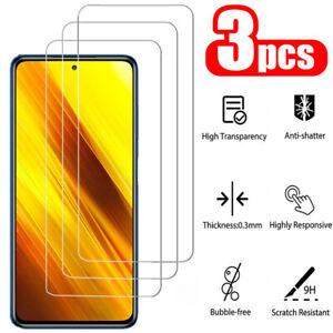 For Xiaomi Poco X3 NFC X3 Pro F2 Pro F3 M3 3PCS Tempered Glass Screen Protector
