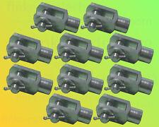 10x Gabelkopf 8x16 M8 inkl Splintbolzen DIN71751 verzinkt Gabelgelenk Gabelköpfe
