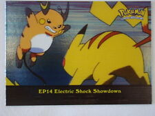 Electric Shock Showdown Foil/Holo 2000 Topps Pokemon Series 2 Episode Card EP14